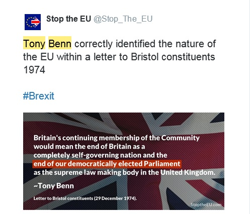 stop the eu tweet tony benn