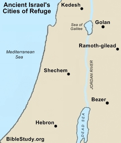 cities of refuge in Israel
