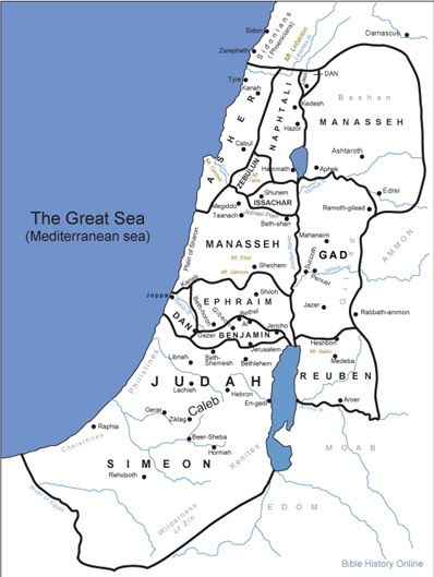 The Tribal Divisions of the Land of Israel