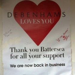 debenhams clapham junction business as usual