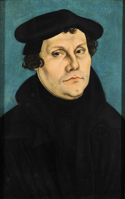 Lucas Cranach DA painting of Martin Luther 1528